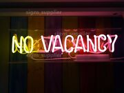 New No Vacancy On/off No Neon Sign Acrylic Box Light Lamp Gift Bar Poster 15x6