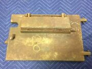 Vintage Metal Heavy Furnace Door Cast Iron Large Mail Slot Mailbox Stove Rusty