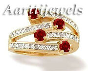 0.65ct Diamond Ruby 14k Yellow Gold Engagement Ring Shop Early And Save