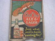 1930's Red Fox Ale And Lager Largay Brg Co Waterbury Ct Bobtailed Dq Matchcover