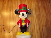 Disney Mickey Mouse Blowmold Blow Mold Lighted Lights 23.5 Christmas