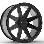 20 Solid Atomic Black 20x9.5 Forged Concave Wheels Rims Fits Hummer H2