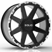 20 Solid Atomic Machined 20x9.5 Wheels Rims Fits Chevy Silverado 1500 Classic