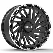 20 Solid Blaze Machined 20x12 Forged Wheels Rims Fits Toyota Land Cruiser 82-97