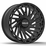 20 Solid Blaze Black 20x12 Forged Concave Wheels Rims Fits Ford F-150 75-96