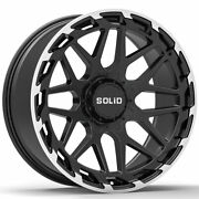 20 Solid Creed Machined 20x9.5 Wheels Rims Fits Ford Explorer Sport Trac