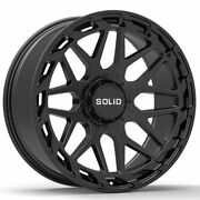 20 Solid Creed Black 20x12 Forged Concave Wheels Rims Fits Nissan Titan