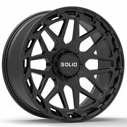 20 Solid Creed Black 20x12 Forged Concave Wheels Rims Fits Chevrolet Tahoe