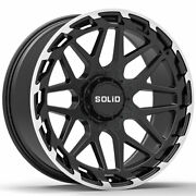 20 Solid Creed Machined 20x9.5 Wheels Rims Fits Chevy Silverado 1500 Classic