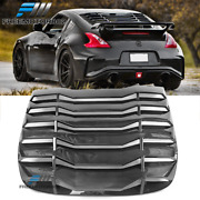 Fits 09-19 Nissan 370z Coupe Window Scoop Louver Rain Sun Guard Shade Cover Cfl