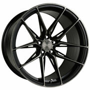 20 Vertini Rfs1.8 Black 20x9 20x10 Wheels Rims Fits Bmw 640 650 Gran Coupe