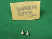 Pair Dill 643 Tire Valve Stem Caps 1930s 40 50s Chevy Ford Mopar Cadillac