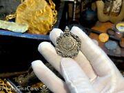 Spain 2 Reales 1700-46 Skull And Bones Pirate Gold Coins Jewelry Necklace