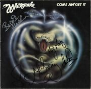 Whitesnake Come Anand039 Get It Vinyl Lp David Coverdale Deep Purple Autograph Signed