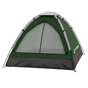 Two Person 2 Man Green Tent Carry Bag Kids Adult Camping Easy Assembly