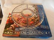 5 Part Divided Crystal Garden Relish Serving Tray From Colony Crafts 12 Diamete