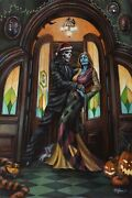 Nightmare Before Addams By Ashley Raine Parody 36 X 24 Gallery Wrapped Canvas
