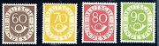 Germany-1951-2 60 70 80 90f Values Sg 1057-1060 Unmounted Mint + Certificate