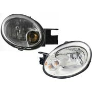 Headlight Lamp Left-and-right Lh And Rh For Dodge Neon 03-05 Ch2503151 Ch2502151