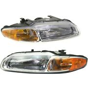 Headlight Lamp Left-and-right Ch2503116 Ch2502116 5263987ab 5263986ab Lh And Rh