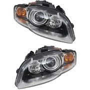 Hid Headlight Left And Right For Audi 2005-2009 A4 S4 A4 Quattro 2007-2008 Rs4