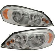 Headlight Lamp Left-and-right For Chevy Lh And Rh Impala Gm2503261c Gm2502261c