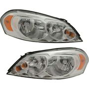 Headlight Lamp Left-and-right For Chevy Gm2503261 Gm2502261 25958360 25958359