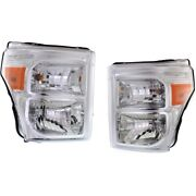 Headlight For 2011-2016 Ford F-350 Super Duty Driver And Passenger Side Pair