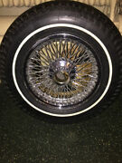 Jaguar E-type S 3 Dunlop Sp Sport Radial And Dunlop Wire Wheel. Free Shipping.
