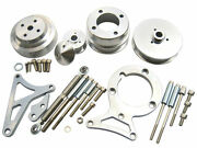 79-93 Mustang 5.0l Sb Ford 302 Pulley And Bracket Kit Foxbody Serpentine Aluminum