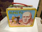 Kung Fu Tv Show Very Rare Metal Lunch Box 1974