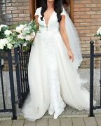 Pre-owned Exclusive Berta Wedding Dress 14-04 Size 10