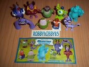 Monsters University Complete Set With All Papers Kinder Surprise 2013