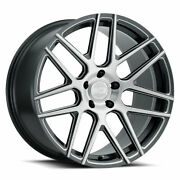 22 Xo Moscow Grey 22x9 22x10.5 Forged Concave Wheels Rims Fits Bmw F01 740 750