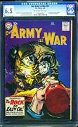 Our Army At War 81 Cgc 6.5 Ow/w Key Silver Age Comic Intro Sgt Rock Rare L@@k