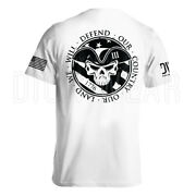 American Patriot Our Country Our Land We Will Defend Menand039s T-shirt