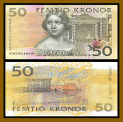 Sweden 50 Kronor 1996-2002 P-62a Repalcement Star Uncirculated Unc