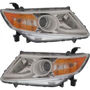 Hid Headlight Lamp Left-and-right Hid/xenon Lh And Rh Ho2503143, Ho2502143