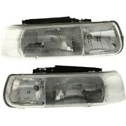 Gm2503187c Gm2502187c Headlight Lamp Left-and-right For Chevy Suburban Lh And Rh