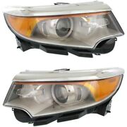 Bt4z13008h Bt4z13008g Headlight Lamp Left-and-right Lh And Rh For Ford Edge 11-14