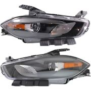Ch2503240 Ch2502240 Headlight Lamp Left-and-right Lh And Rh For Dodge Dart 13-15