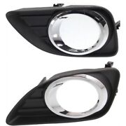 Set Of 2 Fog Light Trims Lamps Left-and-right Lh And Rh To1038131, To1039131 Pair