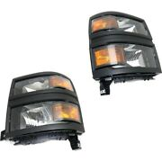 Headlight Lamp Left-and-right For Chevy Gm2503395 Gm2502395 23380553 23380552