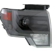 Headlight For 2013-2014 Ford F-150 Right Gray Trim