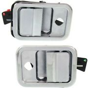Set Of 2 Exterior Door Handles Front Left-and-right Lh And Rh For Columbia Pair