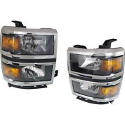 Headlight Lamp Left-and-right For Chevy Gm2502410c Gm2503410c Lh And Rh Chevrolet