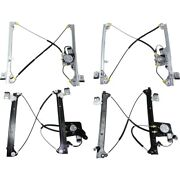 Set Of 4 Window Regulators Front And Rear Left-and-right For Chevy Suburban Yukon