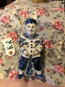 Delft Pottery Toby Jug 1860s Blue And White Figural
