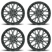 22 Xo Phoenix Grey 22x9.5 22x10.5 Forged Concave Wheels Rims Fits Dodge Charger