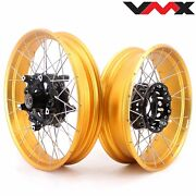 Vmx 3.019and039and039/4.517 Tubeless Wheels Fit Bmw R1200gs Adventure 2013-2020 Gold Rim